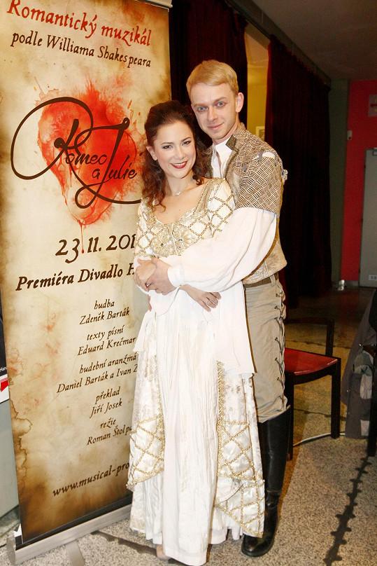 Ivana Korolová s představitelem Romea Lukášem Randákem