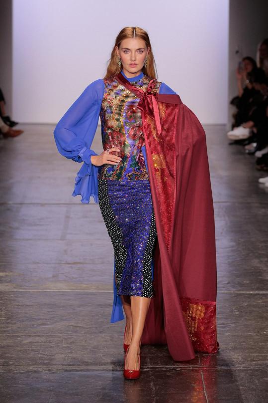 Na módní show Kalfaře nemohla chybět jeho múza, ukrajinská topmodelka Alina Baikova.