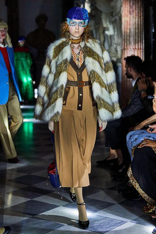 Bára Fialová na módní show Gucci