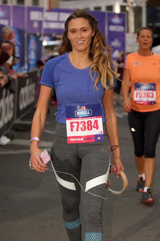 Míša Štoudková po adidas běhu pro ženy na pět kilometrů.