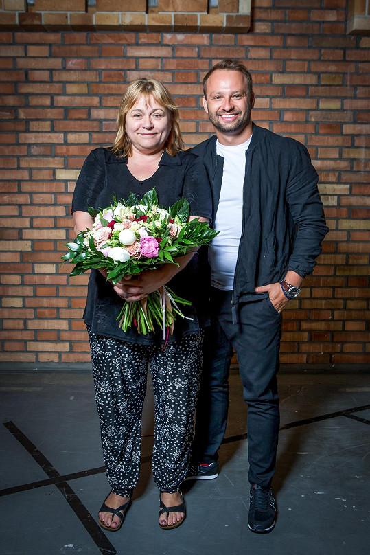 Na svatbě nechyběla ani Marková nová taneční partnerka Pavla Tomicová.