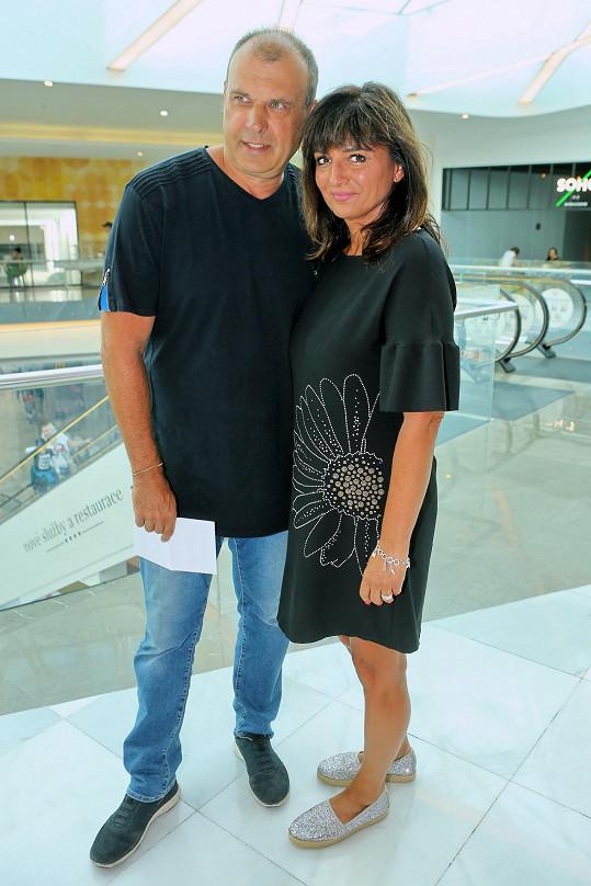 S manželkou Janou, bývalou tenistkou.