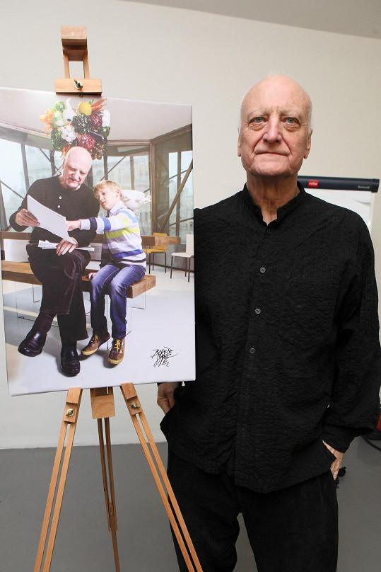 Bořek Šípek před svou fotografií