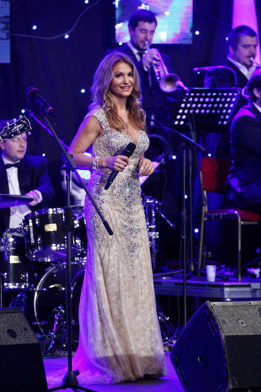 Yvetta byla jednou z hvězd show Slovenské divy v Praze.