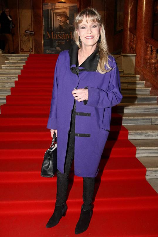 Herečka Chantal Poullain se premiéry zúčastnila jako host.