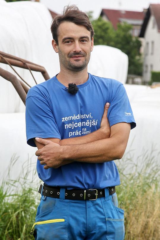 Hospodář Josef Kučera (28) má dva inženýrské tituly.