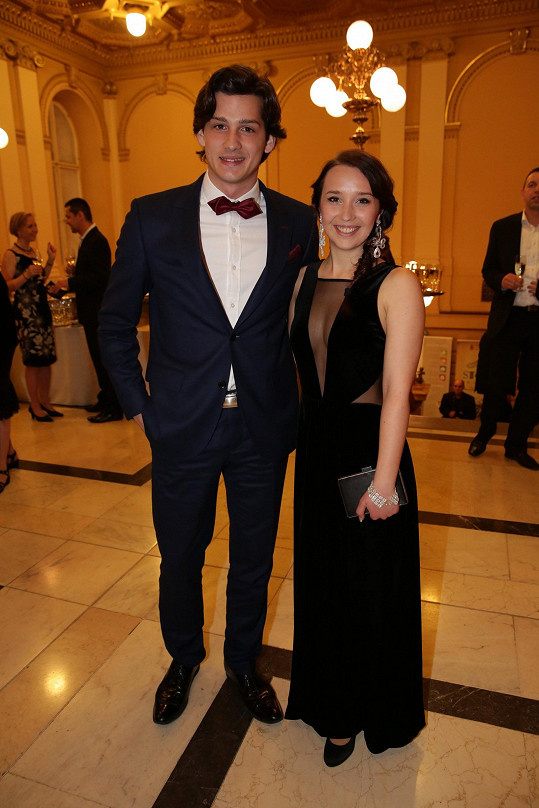 Martin Čermák s partnerkou Kristýnou