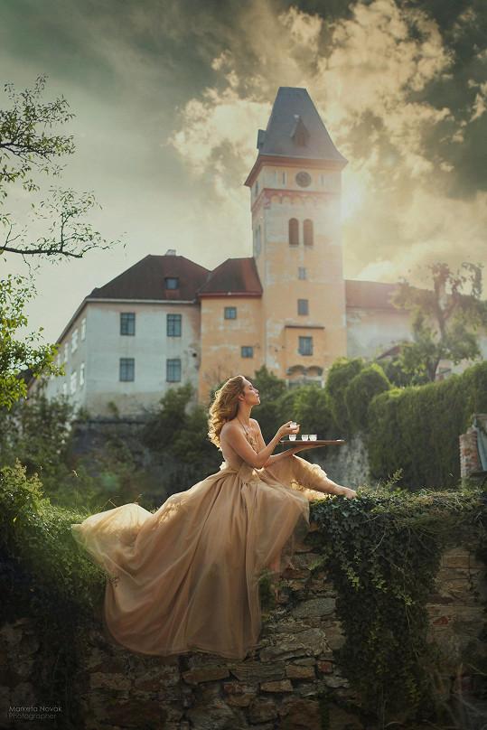 Focení probíhalo u renesančního zámku Vimperk.