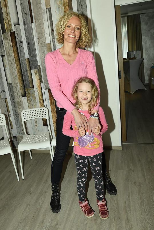 S dcerou Jasmínkou na charitativní akci ke Dni rodiny