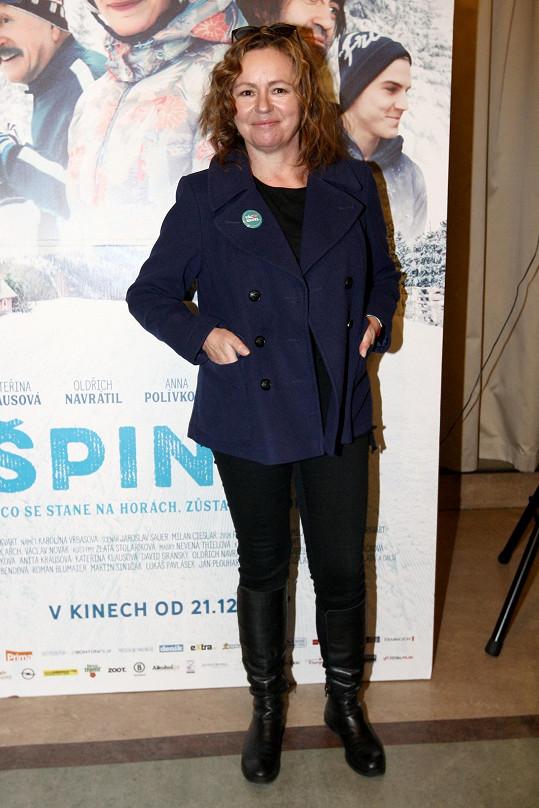 Jitka Sedláčková ve filmu Špindl rozhodně takhle dobře nevypadala.