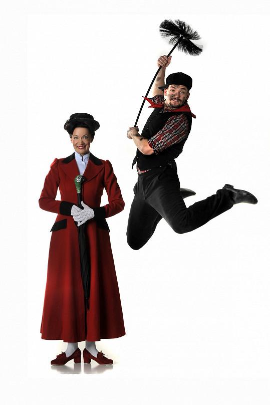 Alena Antalová v hlavní roli Mary Poppins
