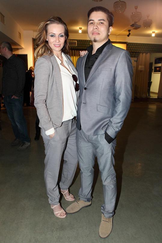 Martina na premiéře nového filmu s přítelem Marcusem Tranem