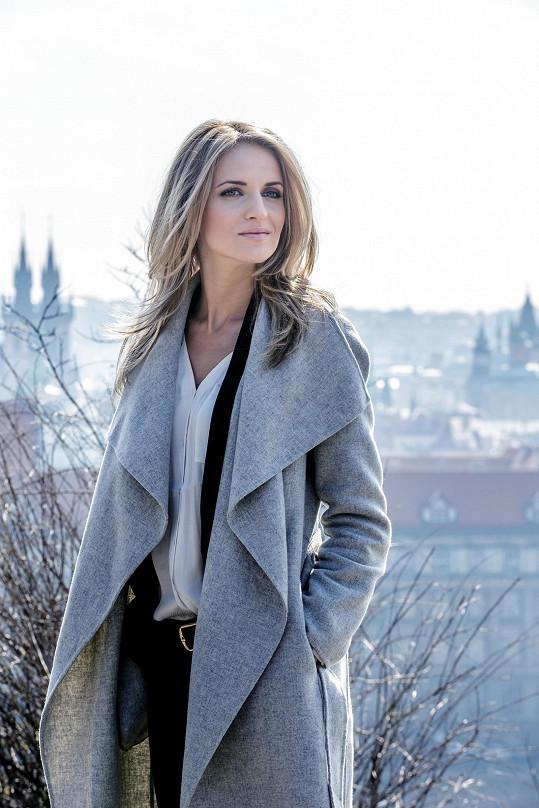 Gabriela Gunčíková minulý týden v Praze natáčela medailonek pro Eurovision Song Contest.