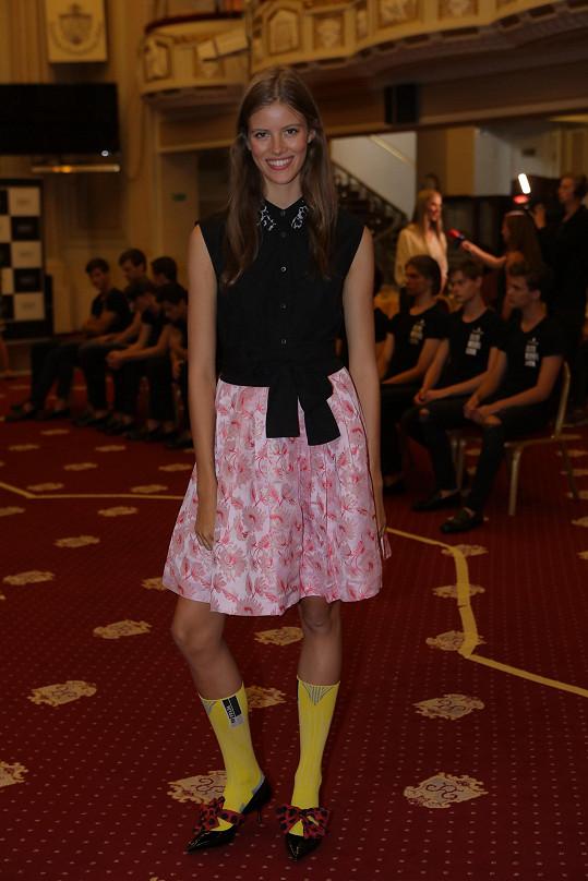 Bára na soustředění finalistů soutěže Schwarzkopf Elite Model Look.
