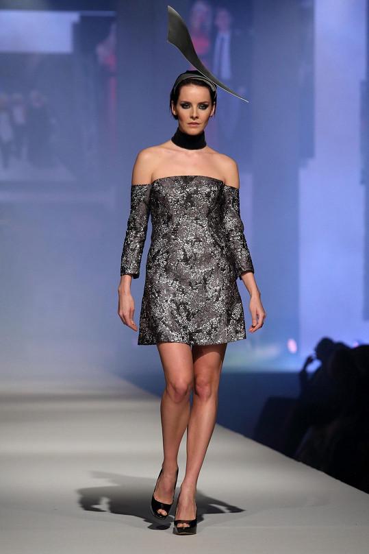 Gabriela na módní show Natali Ruden.