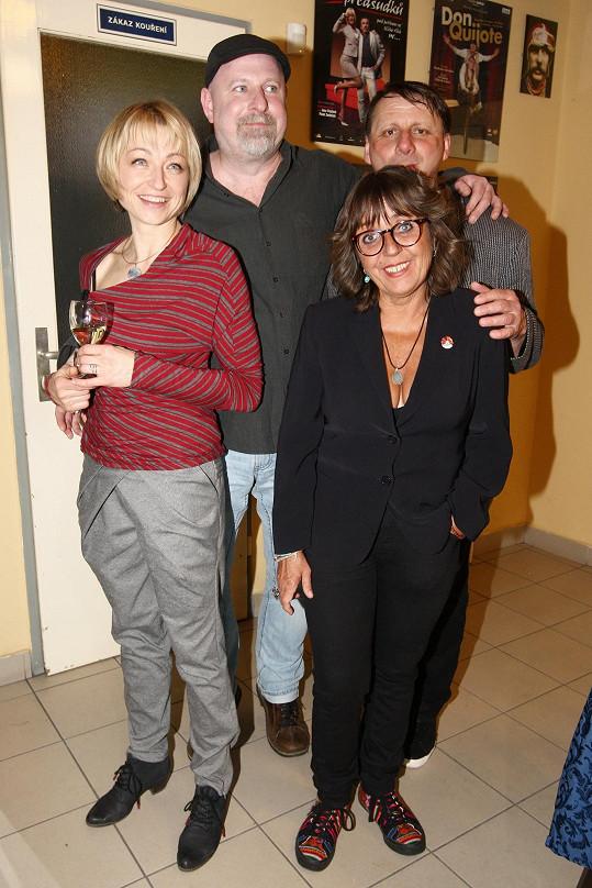 S kolegy z Kočky v oregánu Klárou Cibulkovou a Zdeňkem Velenem