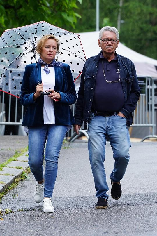 Herečka Jitka Sedláčková s partnerem Pavlem Töpferem