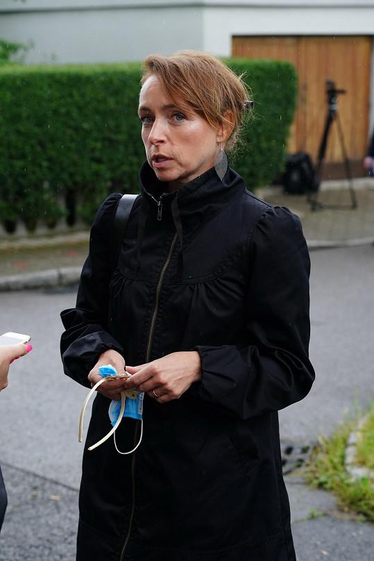 Tatiana Dyková se přišla rozloučit s Libuší Šafránkovou.