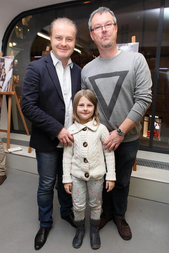 Pavel Šporcl s bratrem Petrem nechyběli na křtu charitativního kalendáře podporujícího děti s autismem.