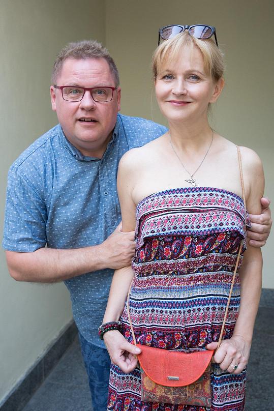 Václav Kopta se bude nyní potkávat s manželkou i na jevišti.
