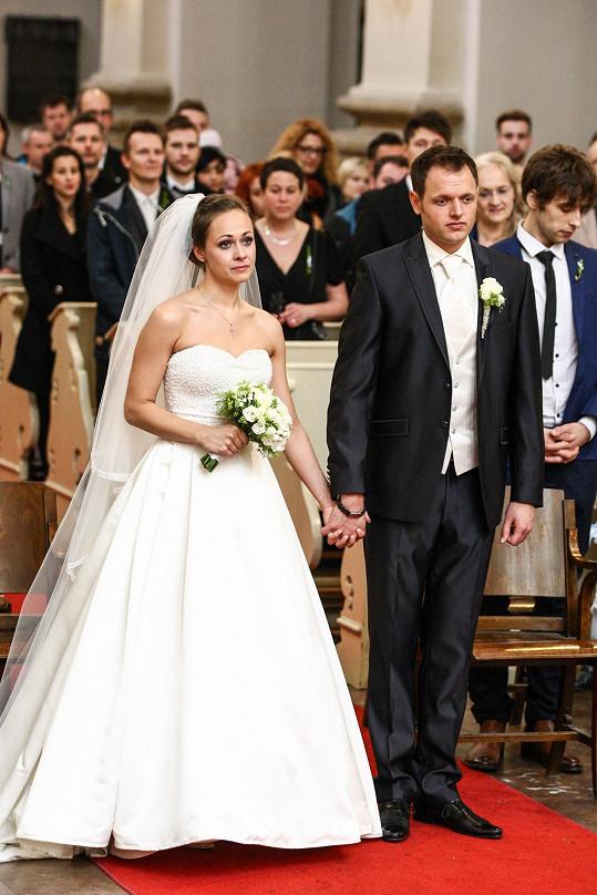 Jan Kříž a Maruška si dnes řekli svá 'ano'.
