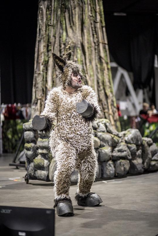 Karel Zima se v kostýmu pěkně zapotí.