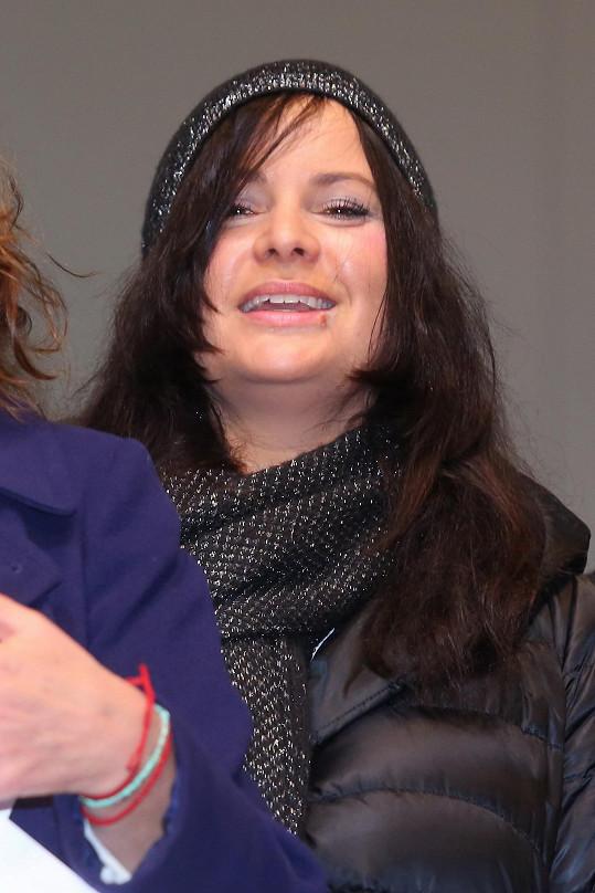 Jitka Čvančarová se dobře bavila.