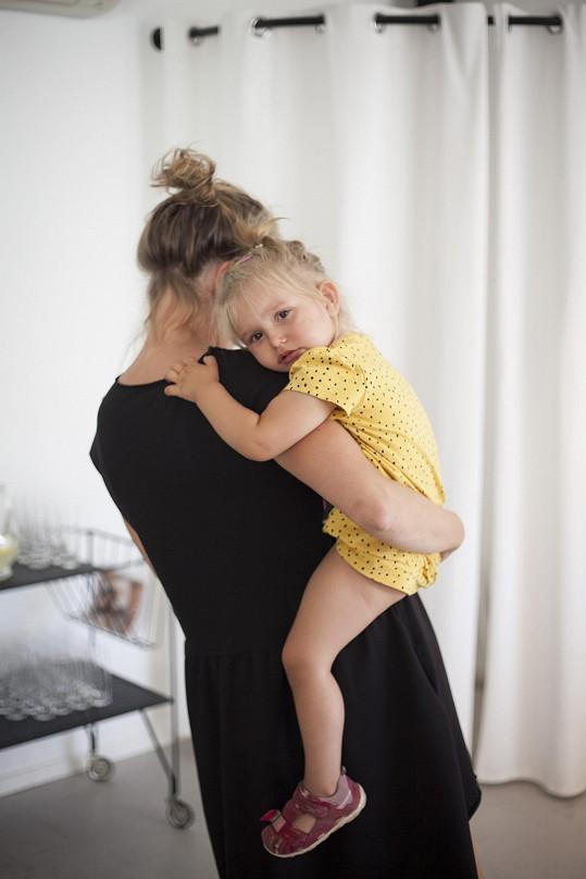 Zahradnická s prvorozenou dcerou Jasmínou