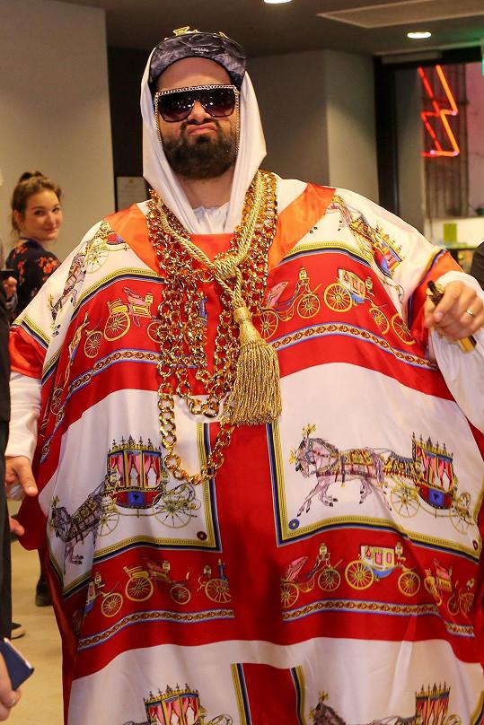 Jiří Burian v kostýmu Kapitána Dema