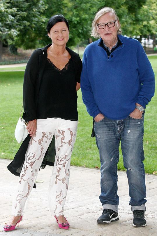 Simona Chytrová s manželem Vítem Olmerem, kterého poznala během natáčení.