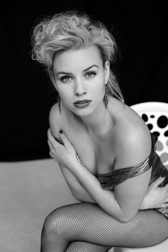 Patricie Solaříková si zahrána na Marilyn Monroe.