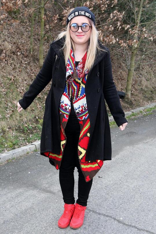 Eliška Mrázová přibrala.