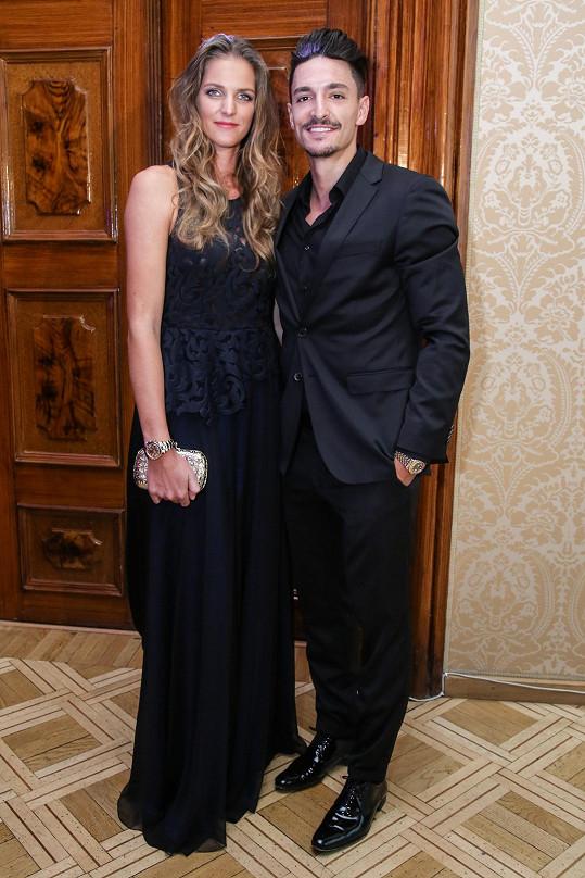 Karolína s přítelem Michalem Hrdličkou