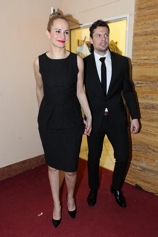 Přišel samozřejmě i její přítel Tomáš Horna.