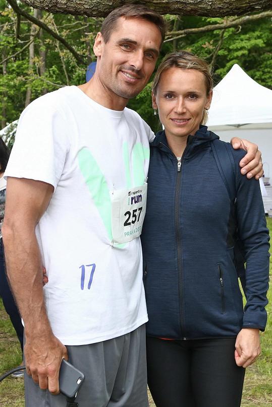 Roman Šebrle s manželkou Evou