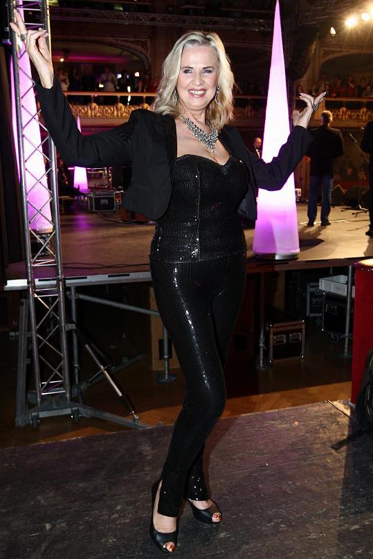 Eva Máziková vystoupila v Lucerně během večera Slovenské divy.