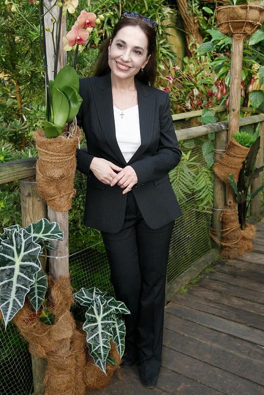 Kuklová byla ve skleníku ve svém živlu.