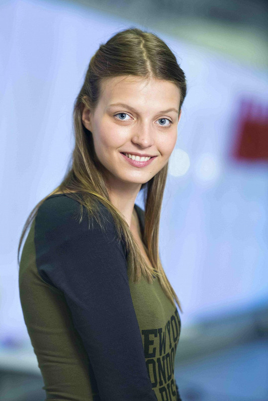 Simona na prezentační fotce Ordinace