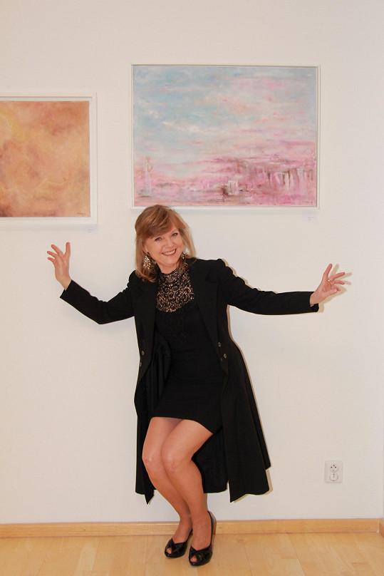 Jarmila Švehlová je úspěšnou malířkou. Věděli jste to?