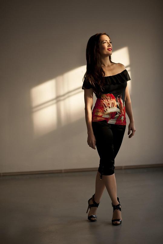 Tereza Kostková je perfektně štíhlá