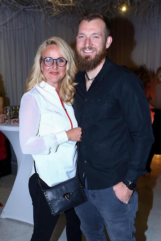 Vendula Pizingerová s manželem Pepou