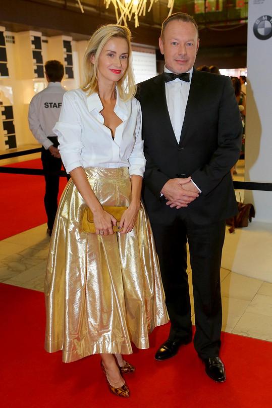 S manželem Michalem Dvořákem.