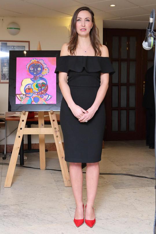 Lucie u jednoho ze svých obrazů