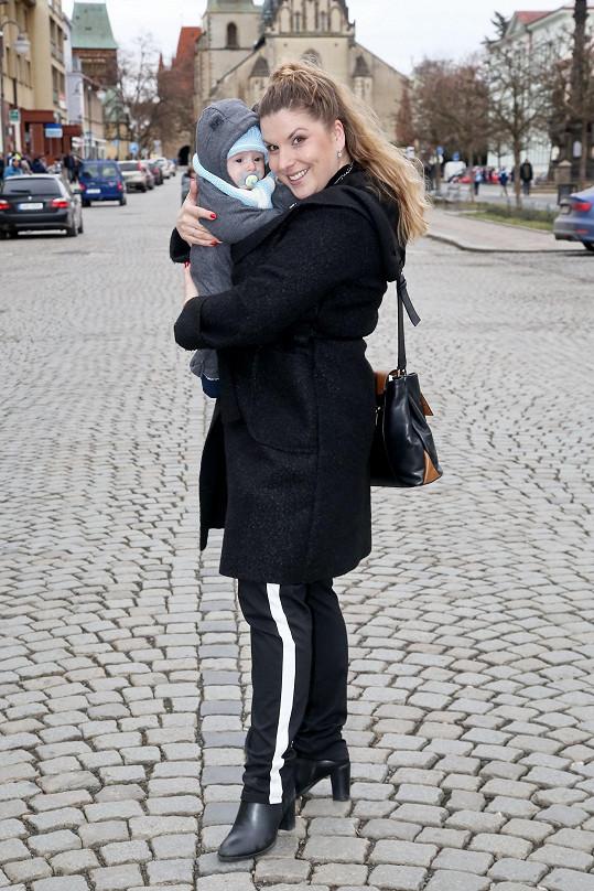 Marcela Tomčíková se pochlubila synkem na výletě po rodném Rakovníku.