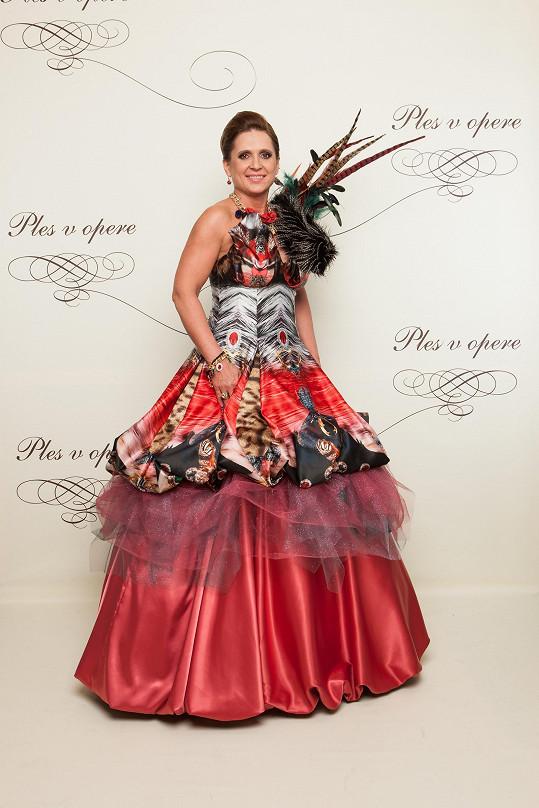 Nejvýraznější šaty večera oblékla rozhodně komunální politička Tatiana Rosová.