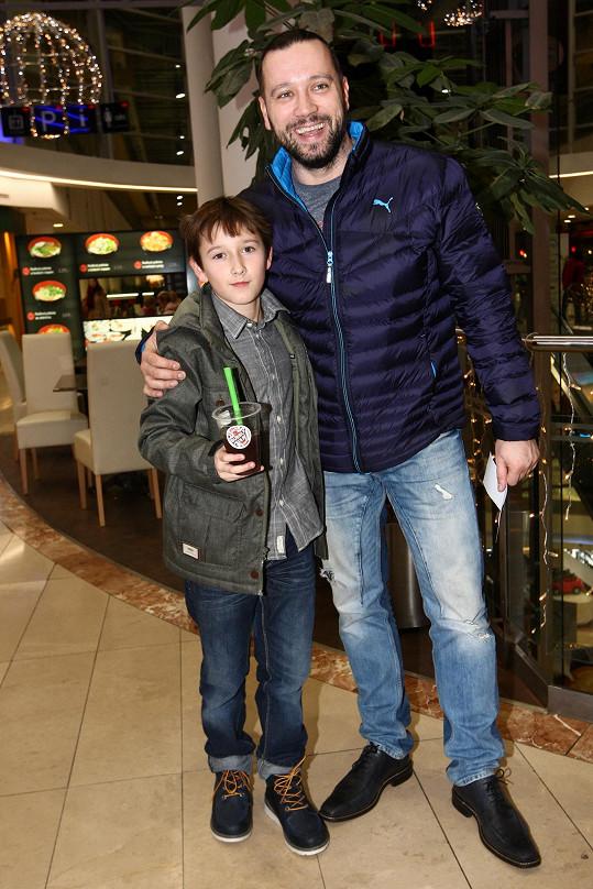 Michal Kavalčík se svým synem Alexem