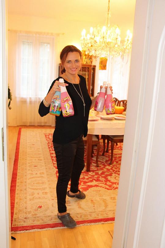 Jana Adamcová v domě pro své děti často pořádala pověstné narozeninové oslavy.