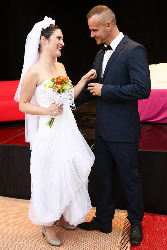 Kristýna a Braňo Polák jako ženich a nevěsta