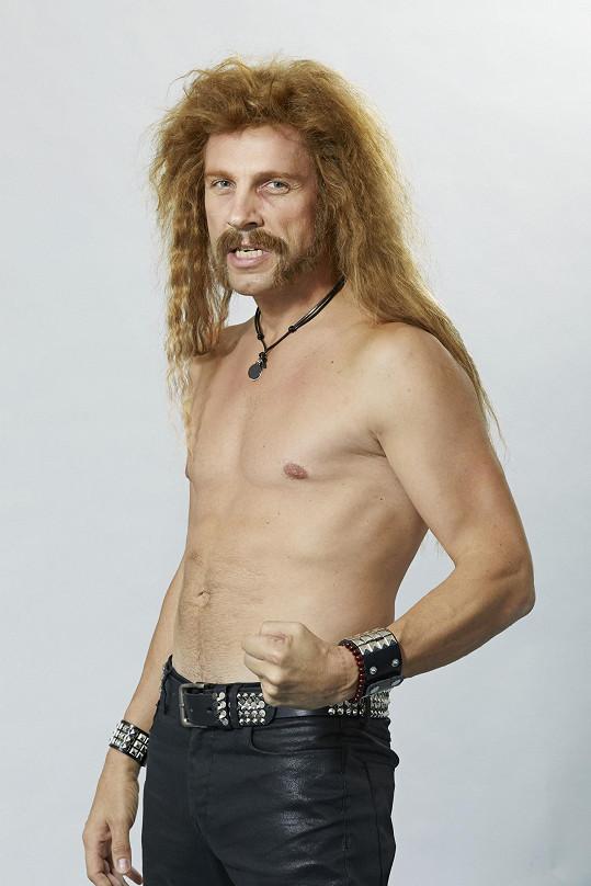Roman jako James Hetfield z kapely Metallica