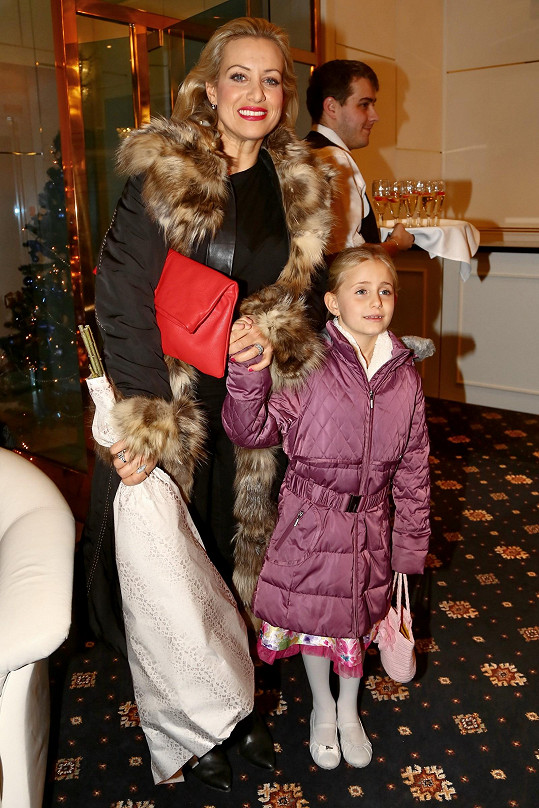 Mezi známými hosty byla například Andreina kolegyně Tereza Mátlová s dcerou Emilkou.